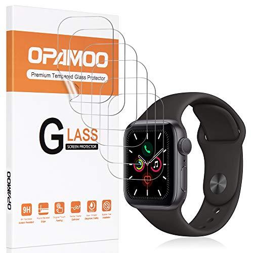 opamoo Schutzfolie für Apple Watch Series 5/4 40mm, [6 Stück] Apple Watch Series 3/2/1 38mm Folie,Blasenfreie Gegen Kratzer, HD Klar Flexible TPU Weich Folie für Apple Watch Bildschirmschutzfolie