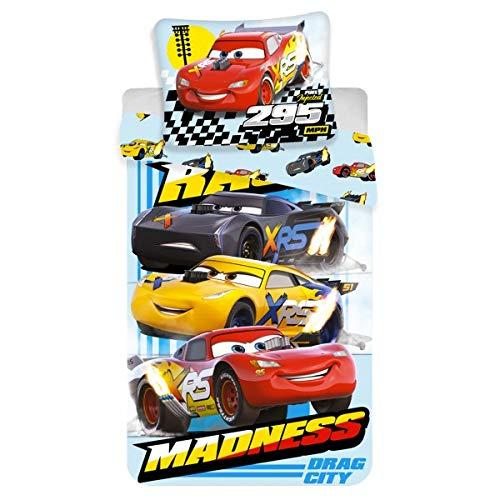 Disney Cars Completo Lenzuola 1 Piazza - 100% Cotone