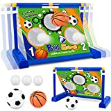 Electric Moving Football Goal Net Set, Football Target Toss Game with Footballs and Pump,Interactive...