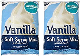 Frostline Vanilla Soft Serve Ice Cream Mix, Large 6 Pound Bag, (2 Bags)
