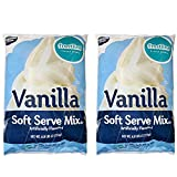 Frostline Vanilla Soft Serve Ice Cream Mix, Large 6 Pound Bag, (2 Bags)