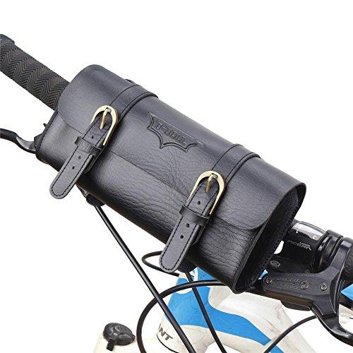 Waroomss - Bolsa de sillín para Bicicleta Retro, Bolsa para Scooter, Bolsa para Manillar Plegable, Bolsa para sillín Trasero para Bicicleta Impermeable, Bolsa para el Asiento, Bolsa para Equi