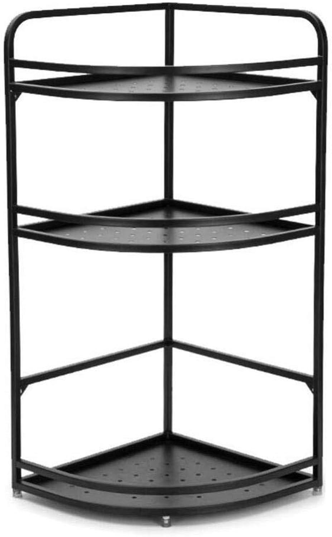 Baker's Rack- Stainless Steel Kitchen Corner Rack Floor Multi-Layer Storage Household Triangle Seasoning Storage Rack ZXMDMZ (Size   Small)