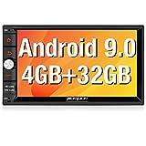 Pumpkin Android 9.0 Autoradio GPS 2 Din Navigation de Voiture Supporte Bluetooth WiFi USB SD RDS Radio OBD2 Dab+ Commande au Volant avec Ecran 7 Pouce