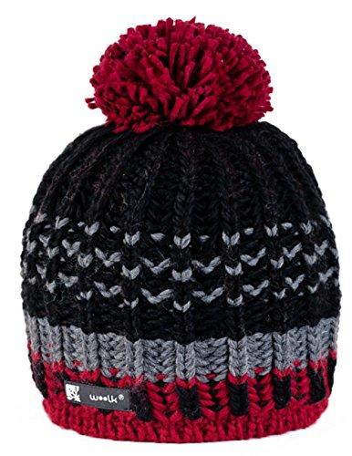 Unisex Beanie hat Bonnet d'hiver chaud Fashion SKI SNOWBOARD Sport doublure polaire 100% Laine (Lolly 6)