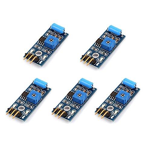 DollaTek 5Pcs SW-420 NC Tipo Vibración Sensor Módulo Interruptor De Vibración para Arduino Smart Car