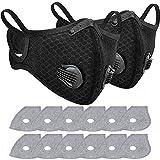 Gesichtsschutz für Radfahrer, mit 12 Aktivkohlefiltern, staubdicht, waschbar, Sport, Outdoor, Mundschutz, 2 Stück