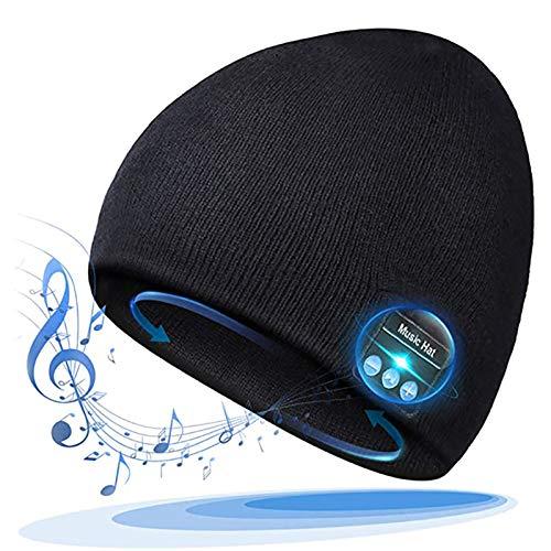 Gorro con Bluetooth, Gorro con Bluetooth, Regalos para Hombre, Gorro con Bluetooth, Regalo para Hombres y Mujeres, Gorro con Manos Libres para Auriculares inalámbricos con parlantes Bluetooth, go