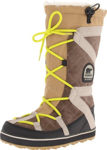 Sorel Glacy Explorer Damen Schneestiefel, Braun (Saddle, Raft_269), 42