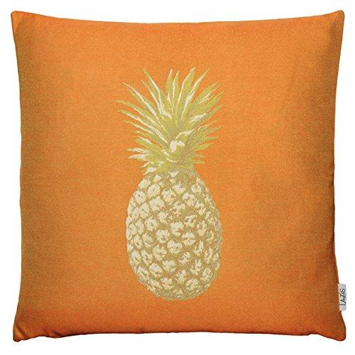 Lazis - Kissenhülle, Kissen, Zierkissen - Ananas, Pineapple - Ermee - Orange - 50 x 50 cm
