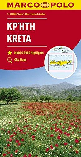 Marco Polo Kreta: Wegenkaart 1:150 000