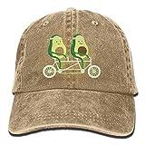 AINCIY Unisex Avocado Riding Bike Cotton Denim Gorra de béisbol Ajustable Sun Hat Nuevo