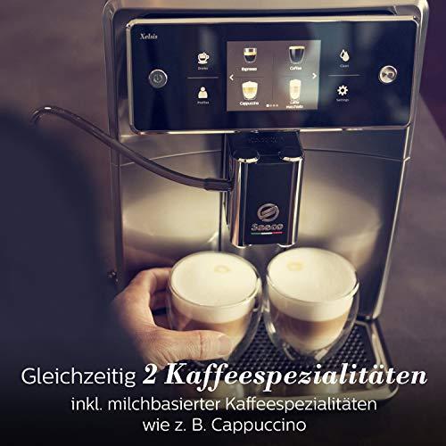 Saeco SM7683/10 Xelsis Kaffeevollautomat 15 Kaffeespezialitäten (Touchscreen, 6 Benutzerprofile), 18/8, Edelstahl/Schwarz - 8