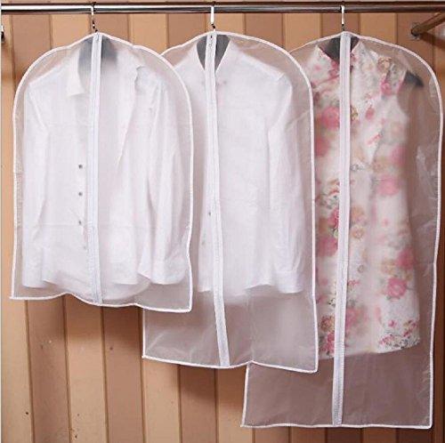 NIBESSER Housse de Protection Cache-Poussière Transparent pour Vêtements Costumes Manteaux Jupes Robe