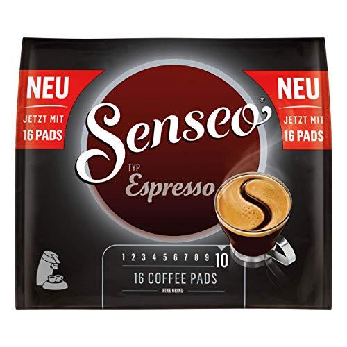 Senseo Typ Espresso, Kaffeepads, Aromatisch und Vollmundig, Röstkaffee, Kaffee, 16 Pads