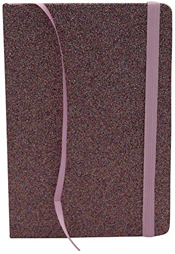 Cuaderno Purpurina Rosa Violeta - 120 Páginas Con Líneas