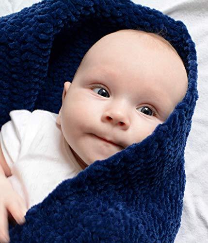Couverture pour bébé, faite à la main très doux Couverture pour bébé, Bleu marine Couverture pour bébé