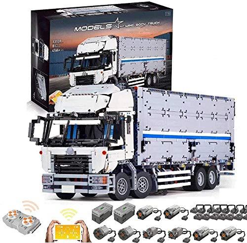 KEAYO Camión técnico con contenedor, Mould King 13139, Truck teledirigido con 8 motores, grande, bloques de montaje MOC, compatible con Lego Technic