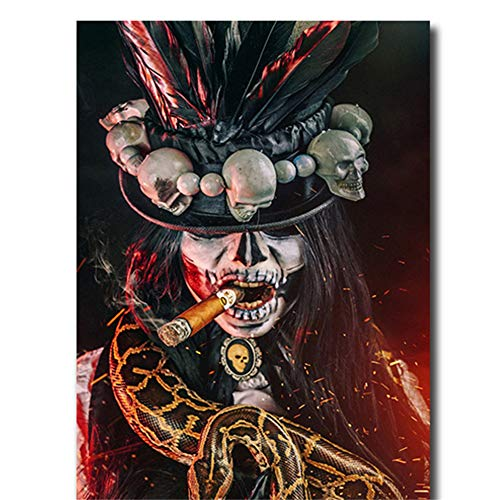 nr Fluch der Plakatmalerei Halloween-Kultur-Leinwand-Kunstwerk-Bild für Hauptzimmer-Wandkunst60x90cm ungerahmt