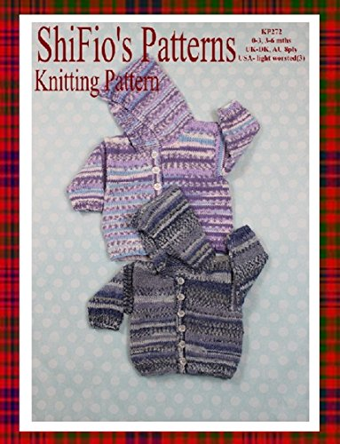 Knitting Pattern   KP272  Hooded Baby Jackets   03mths 36mths  USA Terminology