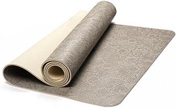 Yoga Matten 4.5mm Embossed Printing PU Rubber Fitness Matten Dikker Antislip