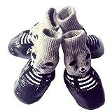 dyudyrujdtry - Zapatos de Perro Bulldog francés, Resistentes al Desgaste, Impermeables, Dorados, Black M, Medium