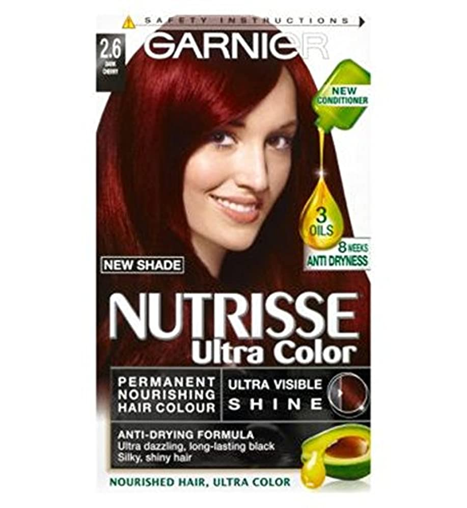 オーガニック水銀の花束ガルニエNutrisse超永久色2.6ダークチェリー (Garnier) (x2) - Garnier Nutrisse Ultra Permanent Colour 2.6 Dark Cherry (Pack of 2) [並行輸入品]