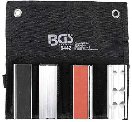 BGS 8442  Schraubstock-Schutzbacken-Satz  8-tlg.  Aluminium  100 mm  mit Magnet  Alu  Schonbacken