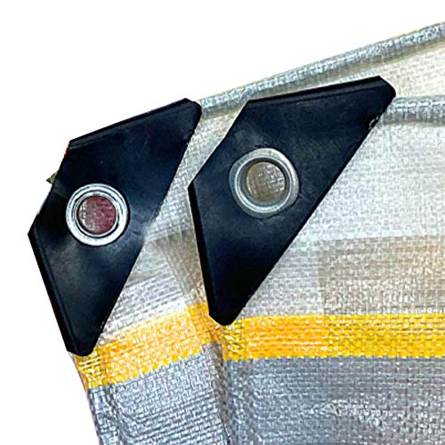 JLXJ Lona Alquitranada Lona Grande con Ojales, Camping Rectangular/Bote/Pintura de la Lona del Piso, Tarea Pesada Impermeable Plástico PE Paño de Sombra, Espesar: 0.46 Mm (Size : 4m×4m(13ft×13ft))