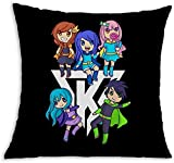 Yuanmeiju Its-Funneh Decorative Throw Fundas de Almohada 18 x 18 Inch Pillowcase for Bedroom Cushions Covers Square Polyester Cases Outdoor Patio Sofa Home Decor