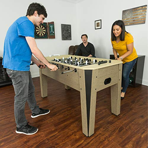 EastPoint Sports Ellington Foosball Table Game - 60 inches - Features Steal Player Rods, Bead Style Scoring, and includes 4 Foosball Balls