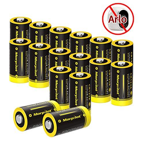 Batterien CR123A / CR123, 16Stück 3V 1500mAh CR17345 Lithium Batterie für Digitalkameras,...