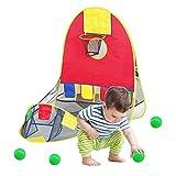 Explea tragbares Ball-Schießzelt mit 4 Bällen, zusammenklappbares Spielhaus Pädagogisches...