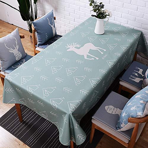 XXDD Mantel nórdico Rectangular Mantel de Boda Impermeable Cubierta de Mesa Mantel Grueso Banquete Banquete A7 140x140cm