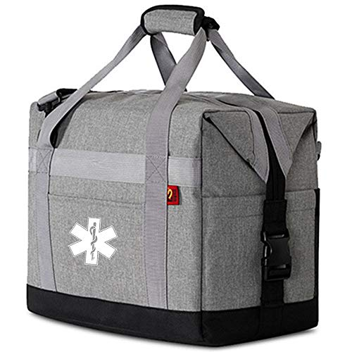 2 Piece Set Medical Bags for Small Medical Equipment, Liquids and Glassware, Suitable for First aid, Nursing, Home Health, Medical Bags for Traveling by Nurses and Doctors (Light-Grey)