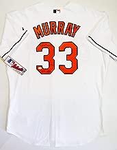 Eddie Murray Autographed Baltimore Orioles White Jersey w/HOF 82 - JSA Auth L3