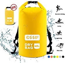 Xuan's 10L/20L/30L/40L Dry Bag Sack, Waterproof Floating Dry Gear Bags for Boating, Kayaking, Fishing, Rafting, Swimming and Camping with 2L Drybag Gift
