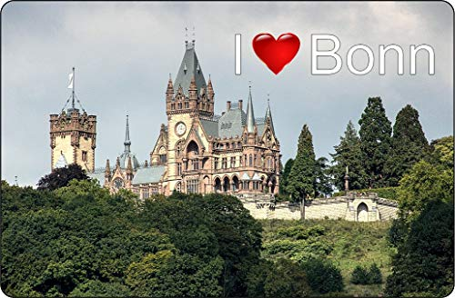 Cadora Magnetschild Kühlschrankmagnet I Love Bonn I