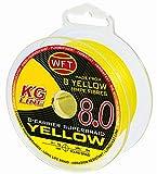 WFT KG 8 gelb 150m - Geflochtene Angelschnur, Durchmesser/Tragkraft:0.12mm / 15kg Tragkraft