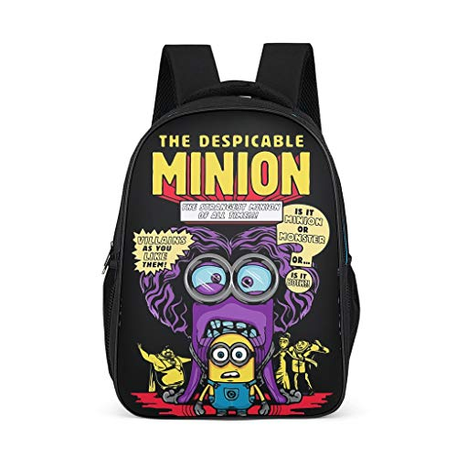 Cartoon Minion Durable Kids' Backpack School Book Bag For kids Adults Gift For Boys Girls bright gray onesize