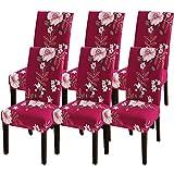 IVYSHION Stuhlhussen Stretch Universal 4/6er Set Esszimmerstühle Elastischer Stuhlbezug, Stuhlhussen Schwingstühle Abnehmbarer Moderne Beschützer Schutzhülle für Husse Bankett Party Hotel