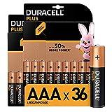 Duracell LR03 MN2400 - Plus AAA, Pilas Alcalinas, Paquete de 36, 1.5 Voltios