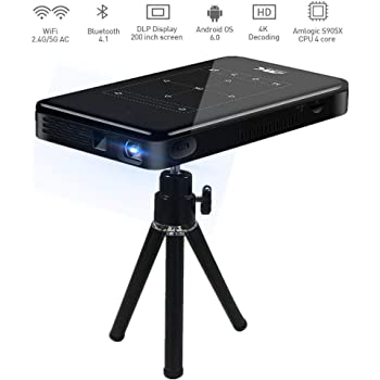 TOUMEI K1 Mini Proyector, Proyector DLP Android System 7.1 3000 ...