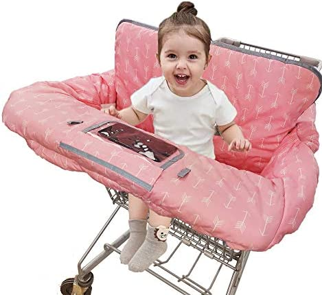 Shopping Cart Covers for Baby Girl Cotton High Chair Cover Machine Washable for Infant Toddler product image