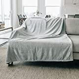 Graced Soft Luxuries Throw Blanket Fleece Minky Microfiber Soft Throw (Gray, Throw 50' x 60')
