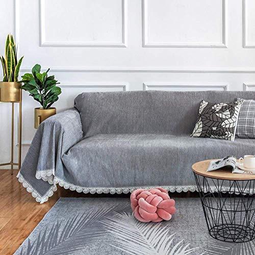 Fundas de sofá Antideslizantes Impermeables con Correas elásticas, para sofá seccional en Forma de L, Funda de sofá Antiarrugas antiácaros Gris 180x220cm (71x87inch)