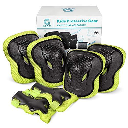 Gonex 6 Pezzi Protezione Kit per Bambini,Set Ginocchiere Gomitiere per Skate,Bicicletta,Sci,Pattinaggio