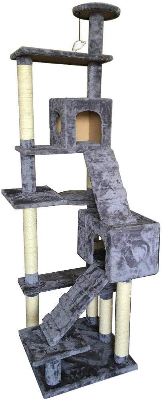 Dixinla Cat climbing frame Cat Tree Pet Supplies Large mediumsized 5storey multilayer 60  60  224cm