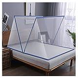 ZGF Mosquitera Plegable Carpa para la Cama Anti-Mosquito Cubierta para Adultos de los niños de Viaje, Plegable portátil hogar y el Recorrido al Aire Libre Mosquitera,Azul,135x190cm