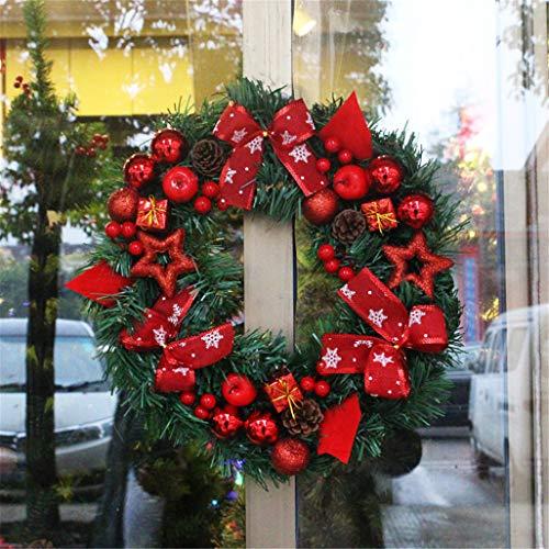 LYFWL Weihnachtskranz 30cm Weihnachtsschmuck Kranz Kranz Ornamente Hotels Zentren Requisiten Einkaufen Tür Hing Fenster Eine Website Hochzeit Kranz